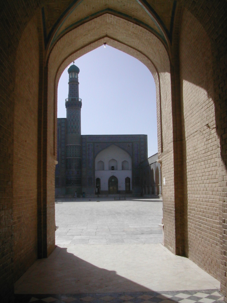 mosque entry to courtyard