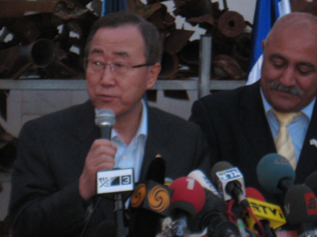 ban ki-moon with sderot mayor